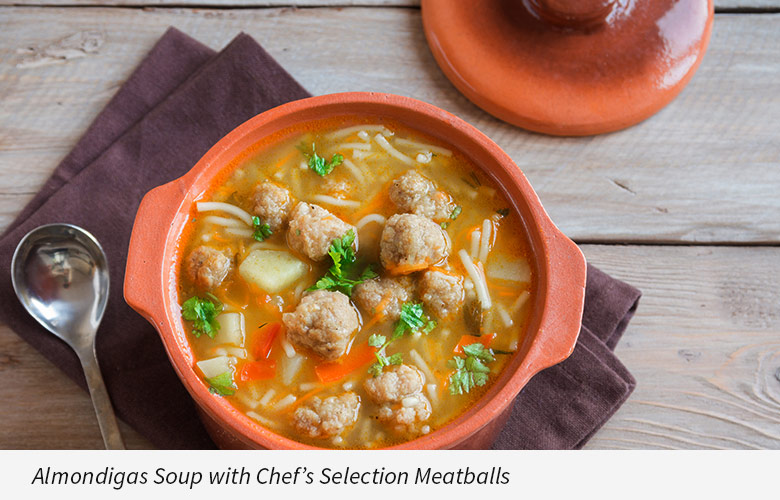 Almondigas Soup with Chef's Selection Meatballs